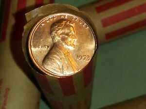 1970'S U.S. MEMORIAL CENT ROLL   NO DAMAGED AND NO WORN OUT COINS QUALITY FIRST