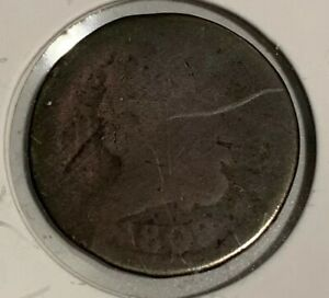 1809 CLASSIC HEAD HALF CENT HOLED