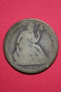 1876 P SEATED LIBERTY HALF DOLLAR EXACT COIN PICTURED FLAT RATE SHIPPING OCE 052