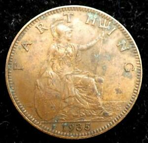 1935 GEORGE V FARTHING COIN   GREAT BRITAIN