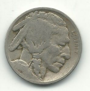 A VINTAGE GOOD 1919 P BUFFALO NICKEL COIN OLD US COIN OCT527