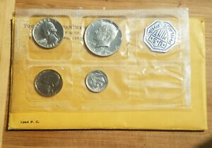 1964 PROOF SET PACKING ERROR  MISSING THE LINCOLN CENT  STILL SEALED  UNUSUAL