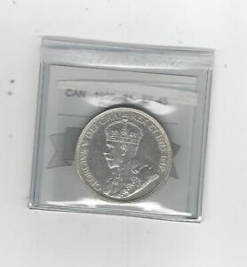 1936  COIN MART GRADED CANADIAN SILVER DOLLAR   EF 45 CLEANED