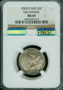 Click now to see the BUY IT NOW Price! 2008 D OKLAHOMA QUARTER NGC MAC MS69 SMS PQ FINEST REGISTRY POP 5  IN 10 YEARS