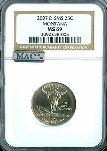 Click now to see the BUY IT NOW Price! 2007 D MONTANA QUARTER NGC MAC MS69 SMS PQ FINEST POP 4 SPOTLESS
