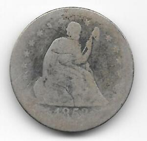1853 O LIBERTY SEATED QUARTER WITH ARROWS AND RAYS