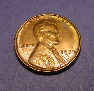 1939 D LINCOLN WHEAT  CENT    BU   GREAT TONING     BL 787