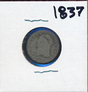 BUST TYPE DIME   1838 CIRCULATED BARGAIN