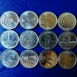 12 CANADA YEAR 2000 COMMEMORATIVE 25 CENTS   COMPLETE SET OF 1 PER MONTH