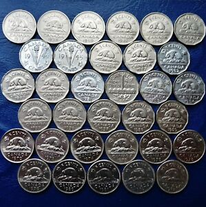 ONE ONLY CANADA 5 CENTS YOU CHOOSE DATE S  1937   2018 ALL DATES NOT AVAILABLE