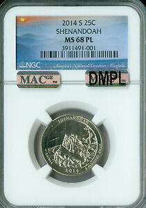Click now to see the BUY IT NOW Price! 2014 S SHENANDOAH QUARTER NGC MAC MS68 PL DMPL PQ FINEST REGISTRY SPOTLESS