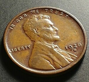 1928 S LINCOLN WHEAT CENT PENNY  COLLECTION COIN LY FINE XF