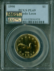 Click now to see the BUY IT NOW Price! 1989 CANADA $1 LOON  PCGS PL 69 PQ MAC FINEST GRADED MAC SPOTLESS