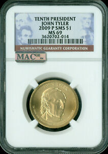 Click now to see the BUY IT NOW Price! 2009 P JOHN TYLER PRES. DOLLAR NGC MAC MS69 SMS PQ FINEST POP 7 SPOTLESS