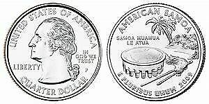 2009 P AMERICAN SAMOA DC & TERRITORIES QUARTER BRILLIANT UNCIRCULATED COIN