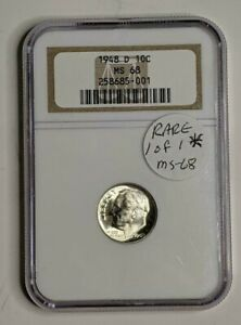 Click now to see the BUY IT NOW Price! 1948 D ROOSEVELT SILVER DIME NGC MS 68  1 OF 1 IN MS 68 GRADE   GRADE