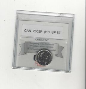 2003P   COIN MART GRADED CANADIAN  10  CENT   SP 67