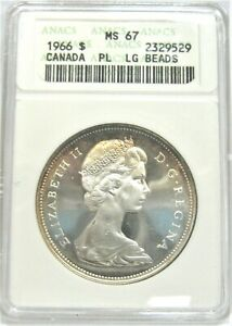 Click now to see the BUY IT NOW Price! ELIZABETH II 1966 CANADA SILVER DOLLAR   HIGH GRADE   ANACS MS67