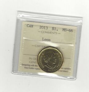 2013  ICCS MART GRADED CANADIAN LOON $1  MS 66