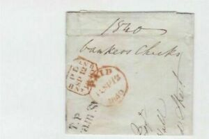 LONDON VICTORIAN 1840 BANK CHEQUE  STAMP WRAPPER REF R15909