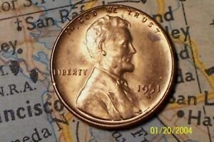 1951 S  @   HIGH QUALITY   LINCOLN WHEAT PENNY