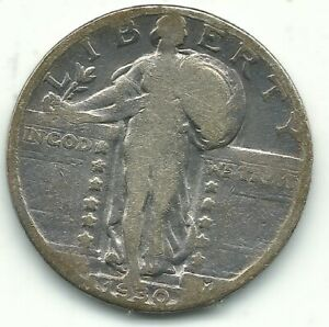 A NICE VINTAGE 1930 P STANDING LIBERTY QUARTER OLD US COIN OCT351