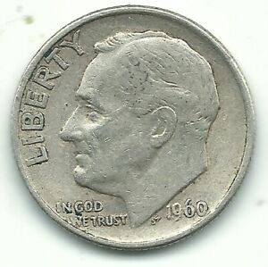 VG/FINE 1960 P ROOSEVELT SILVER DIME OLD US COIN OCT381