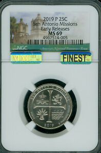 Click now to see the BUY IT NOW Price! 2019 P SAN ANTONIO QUARTER NGC MAC MS 69 PQ FINEST GRADE SPOTLESS