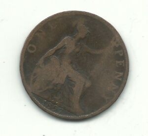 A NICE VINTAGE 1897 GREAT BRITAIN ENGLISH LARGE PENNY CENT NOV463