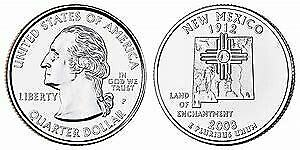 2008 P NEW MEXICO STATE QUARTER BU BRILLIANT UNCIRCULATED COIN