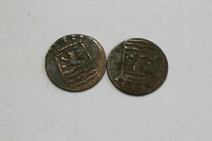 NETHERLANDS USA COLONIAL DUTCH NY SHIPWRECK DUIT 1790/92 B18 WS10