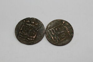 NETHERLANDS USA COLONIAL DUTCH NY SHIPWRECK DUIT 1752/86 B18 YG36