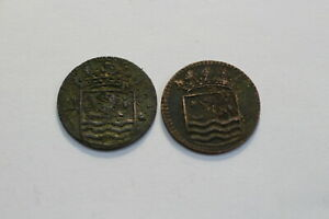 NETHERLANDS USA COLONIAL DUTCH NY SHIPWRECK DUIT 1744/53 B18 XB37