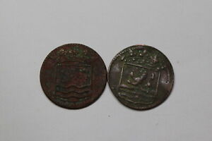 NETHERLANDS USA COLONIAL DUTCH NY SHIPWRECK DUIT 1744/54 B18 CCC41