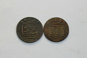 NETHERLANDS USA COLONIAL DUTCH NY SHIPWRECK DUIT 1737/45 B18 ZX10