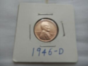 1946 D LINCOLN CENT CIRCULATED   PERFECT FOR COIN BOOKS