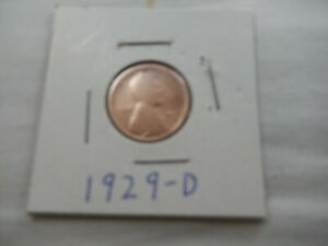 1929 D LINCOLN CENT CIRCULATED   PERFECT FOR COIN BOOKS