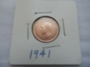 1941 CANADIAN CENT CIRCULATED   PERFECT FOR COIN BOOKS