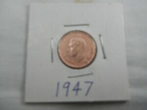1947 CANADIAN CENT CIRCULATED   PERFECT FOR COIN BOOKS