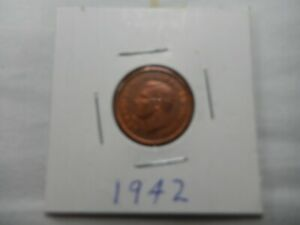 1942 CANADIAN CENT CIRCULATED   PERFECT FOR COIN BOOKS