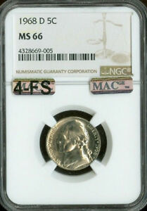 Click now to see the BUY IT NOW Price! 1968 D JEFFERSON NICKEL NGC MS66 4 FS PQ FINEST REGISTRY SPOTLESS $25 000 IN FS
