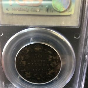 Click now to see the BUY IT NOW Price! 1909 PCGS GRADED CANADIAN SILVER 50 CENT   VF 35