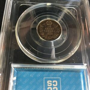 Click now to see the BUY IT NOW Price! 1903 CCCS GRADED CANADIAN  10  CENT   MS 63