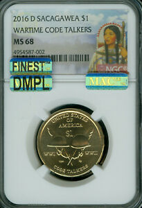 Click now to see the BUY IT NOW Price! 2016 D SACAGAWEA DOLLAR NGC MAC MS68 DMPL PQ FINEST  SPOTLESS