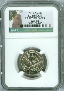 Click now to see the BUY IT NOW Price! 2012 S EL YUNQUE PARKS QUARTER NGC MS68 ER FINEST REGISTRY POP 14