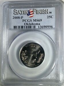 2008     P   OKLAHOMA STATE QUARTER   PCGS MS69 SATIN FINISH REGISTER QUALITY