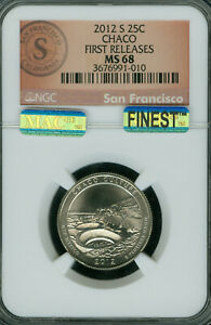 Click now to see the BUY IT NOW Price! 2012 S CHACO LOGO PARKS QUARTER NGC MS68 PQ F.R. MAC FINEST  MAC SPOTLESS
