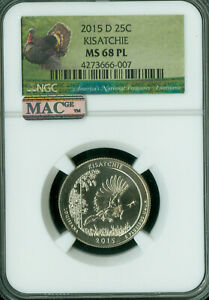 Click now to see the BUY IT NOW Price! 2015 D KISATCHIE QUARTER NGC MS68 PL PQ FINEST REGISTRY MAC SPOTLES