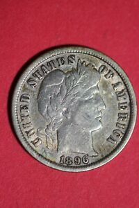 1896 P BARBER LIBERTY DIME EXACT COIN PICTURED FLAT RATE SHIPPING OCE 109