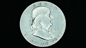 1950 P FRANKLIN HALF DOLLAR   90  SILVER OLD US COIN AVERAGE CIRCULATION
